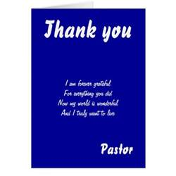 Thank You Letter To A Pastor Thank You Pastor Greeting Cards Zazzle