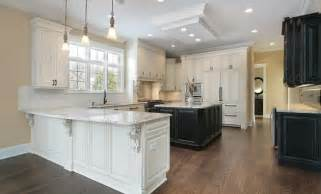 White Kitchen Cabinets Wood Floors Installing Elegance Of White Shaker Kitchen Cabinets