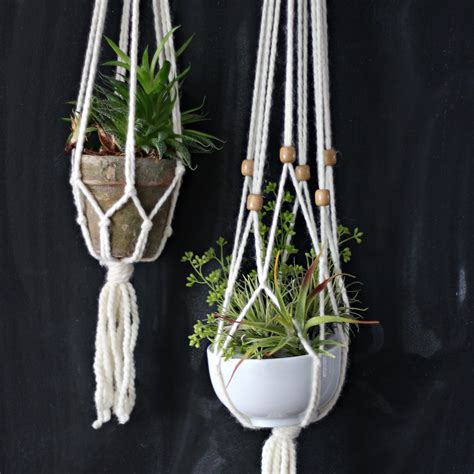 macrame for how to make a simple macrame plant hanger ehow