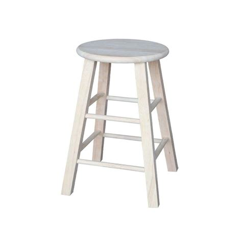 international concepts 24 in unfinished wood bar stool 1s
