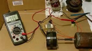 Convert Car Engine To Electric Generator Small Induction Motor Conversion To Generator Exle