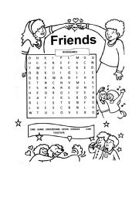printable word search about friendship english worksheets friends wordsearch