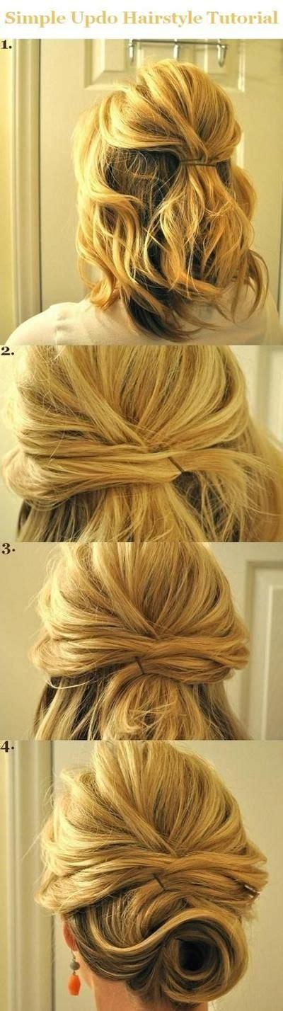 hair tutorials for medium hair updo hairstyles tutorials for medium hair simple half