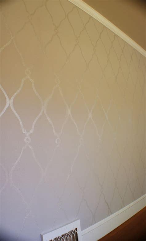 pattern wall painting ideas gloss on eggshell wall paint pattern for the home