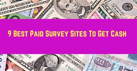 Paid Surveys Sites - 9 best paid survey sites to get cash