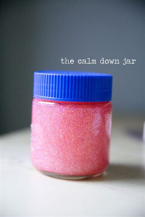 what color calms you down the calm down jar plastic jar tacky glue food color glitter 1 tablespoon of pink