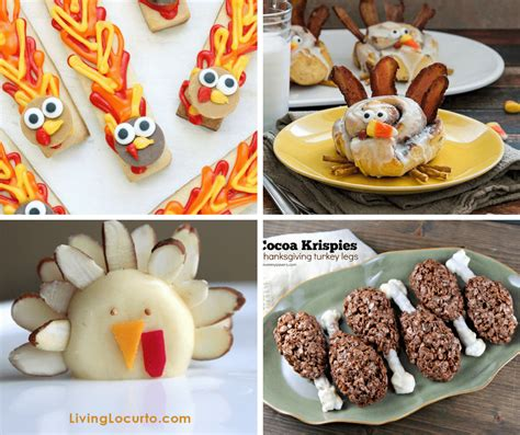 a roundup of 30 fun food ideas for thanksgiving
