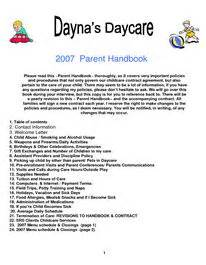 child care handbook template 17 best images about home daycare on day care