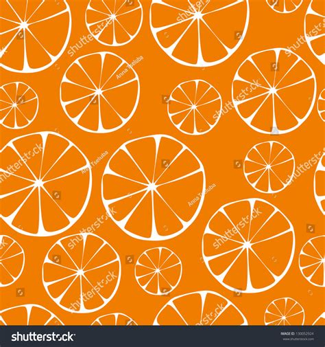 seamless orange pattern vector orange pattern seamless background 130052924