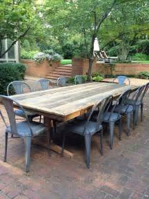 Patio Table With Chairs Best 25 Rustic Farm Table Ideas On Diy Farmhouse Table Kitchen Table Legs And Farm