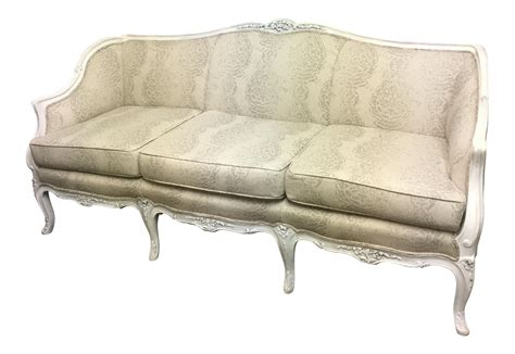 vintage couch reupholstered reupholstered vintage french style sofa chairish