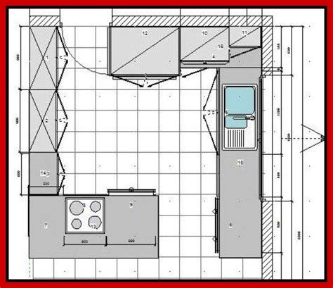 Kitchen Floor Plan Ideas Afreakatheart Kitchen Design Blueprints