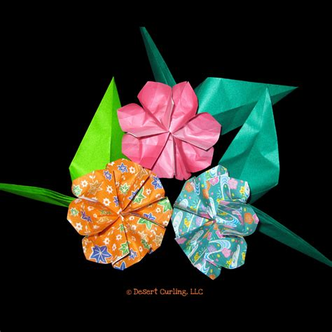 Origami Buttonhole Flower - desert curling origami origami button flowers