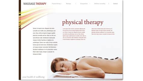 website template for massage chiropractor physical therapy