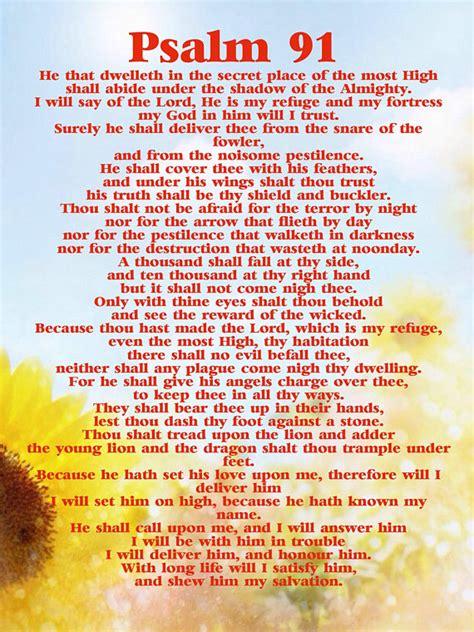 printable version psalm 91 91st psalm kjv digital download prayer for god s