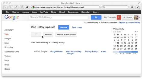 google images history a button that makes you forget on deleting my google web