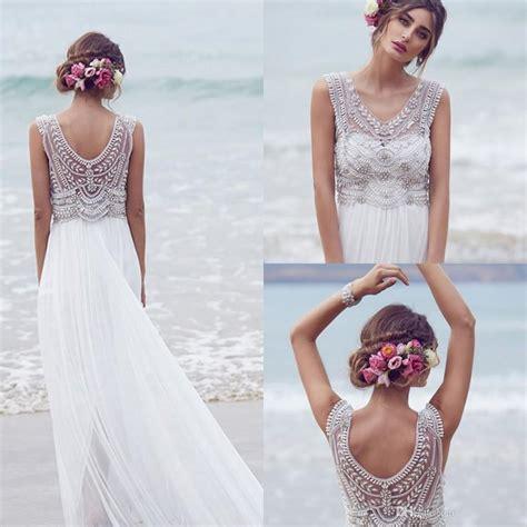 Brautkleider Strand by Cbell 2016 Wedding Dresses Beading Crystals