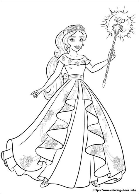 coloring pages princess elena elena of avalor coloring picture quot malebog quot pinterest
