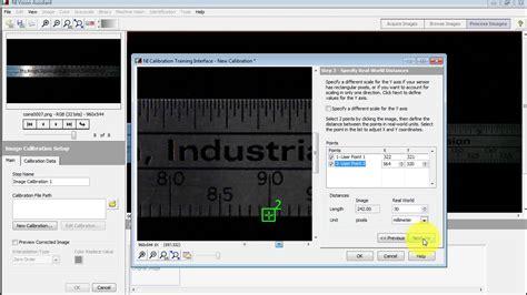 pattern matching ni vision assistant ni vision step 2 calibrate the camera youtube