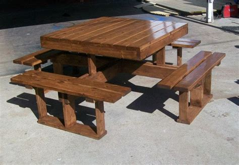 square picnic table plans woodworking projects plans