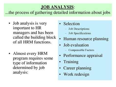 design by humans jobs history of job analysis job analysis is very