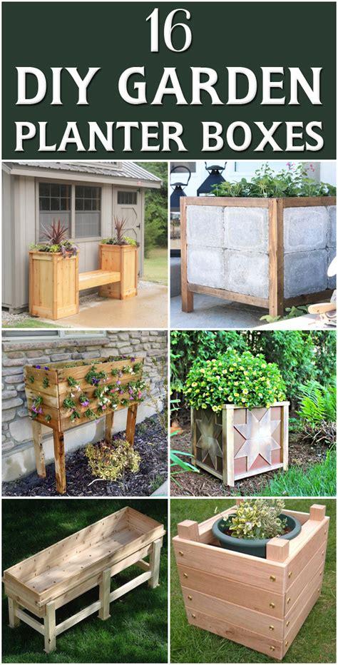 diy garden planters 16 outstanding diy garden planter boxes