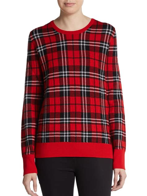 Plaid Sweater equipment shane plaid wool sweater in lyst