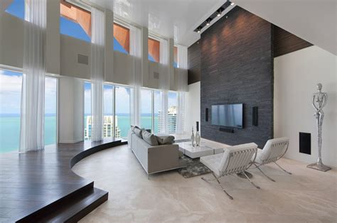 living room miami beach 13 75 million triplex penthouse in miami beach fl