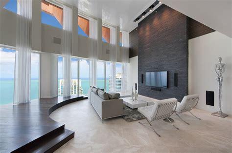 living room miami beach 13 75 million triplex penthouse in miami beach fl