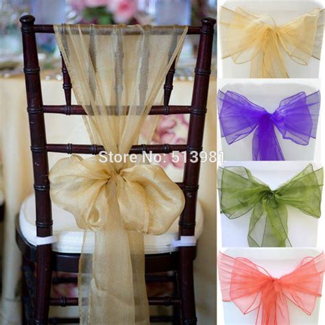 Chair Sashes For Weddings by Aliexpress Buy 50 Pcsnew Hotel Wedding Supplies