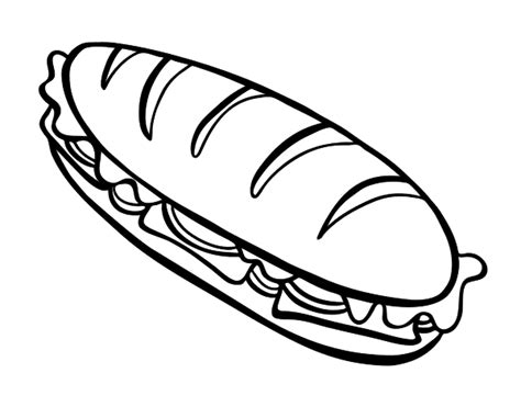 Sandwich Coloring Template Coloring Pages Sandwich Coloring Pages