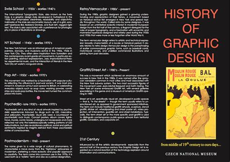 graphics design history timeline history of graphic design timeline brochure on behance