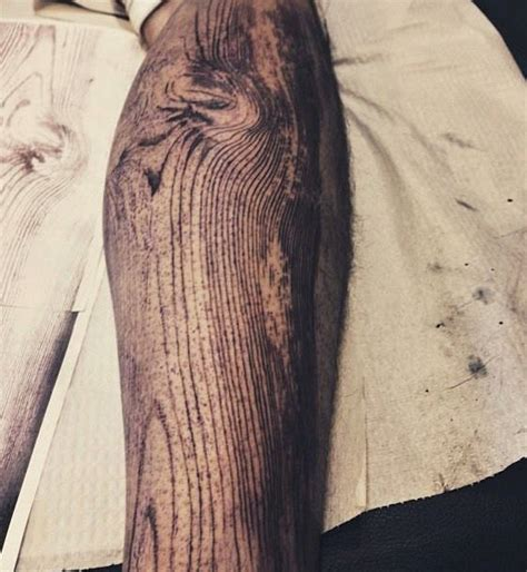 wood grain tattoo designs wooden leg best design ideas