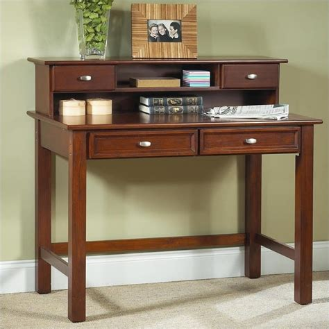 cherry wood desk with hutch computer desk home office workstation wood student writing