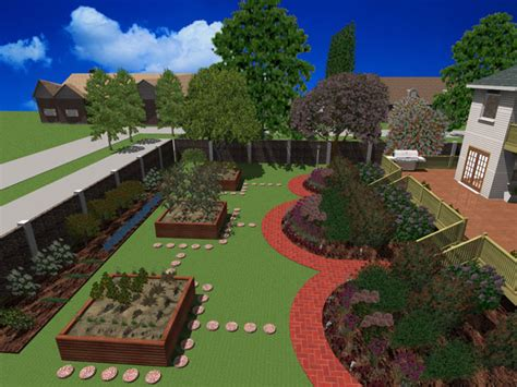 3d landscape design software ideal home 3d landscape design 12 pc software easy simple landscaping ideas