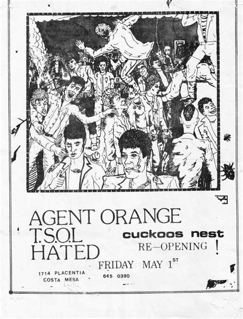 make your own hats classic reprint books t shirt orange tsol the hated concert flyer