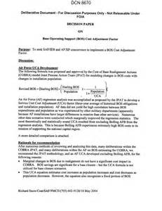 Decision Study Paper - decision paper on base operating support bcbs cost
