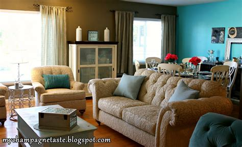 Turquoise Living Room by Chagne Taste Turquoise Living And Dining Room