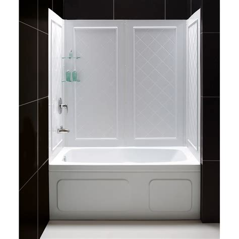 Shower Kit With Bathtub by Shower Kits Shower Backwalls Tray Combos Tub To Shower