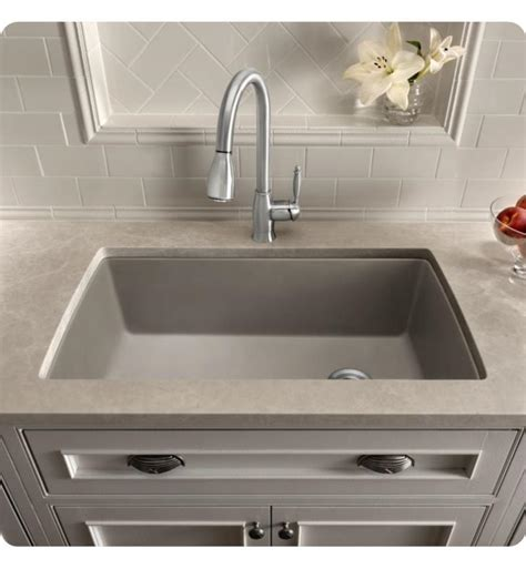 blanco metallic gray sink blanco 440193 32 1 2 quot single bowl undermount