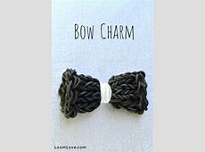 How to Make a Bow Charm on the Monster Tail Rainbow Loom Bow Tie Bracelet