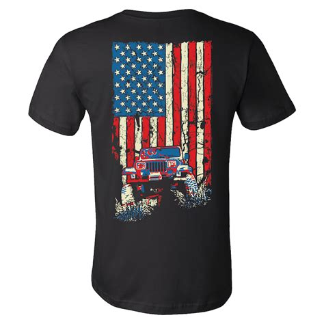 Jeep T Shirt jeepmafia american flag wrangler yj jeep shirt