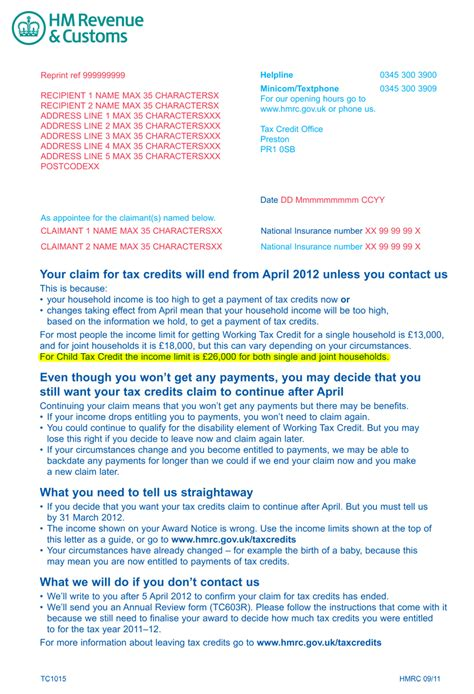 Appeal Letter Template To Hmrc Hmrc Sends Wrong Benefits Warning To 1m Families