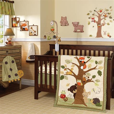 forest crib bedding lambs and echo nursery collection forest nursery