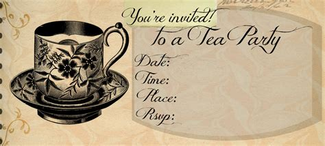 tea invitations free template outlaw home tea invitation template