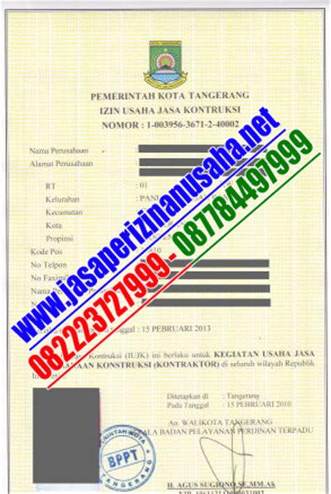 surat izin usaha jasa konstruksi