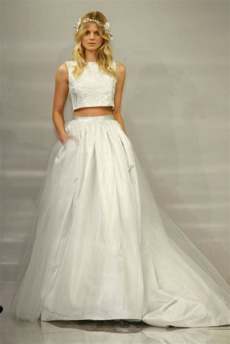 Top of the Crops   Crop Top Wedding Dresses 2015