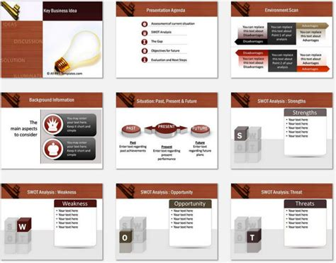 powerpoint template ideas powerpoint key business idea template