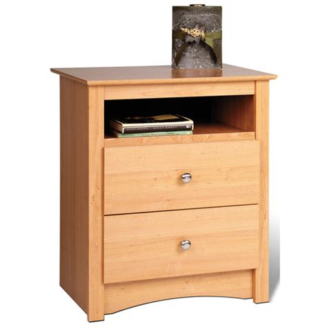 how tall are nightstands sonoma tall two drawer night stand maple in nightstands
