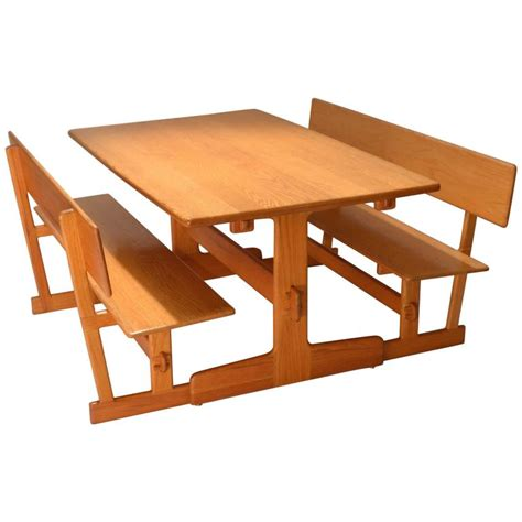 trestle dining table with benches gerald mccabe oak trestle dining table and benches for